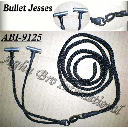 Falconry Bullet jesses complete with 'Sampo' style swivel (ABI-9125)