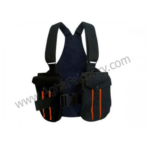 Falconry Black with Orange Lines Cordura Vest (ABI-8900)