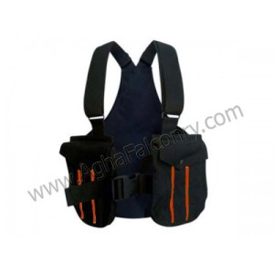 Falconry Black with Orange Lines Cordura Vest (ABI-8900)