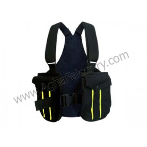 Falconry Black with Yellow Lines Cordura Vest (ABI-8903)