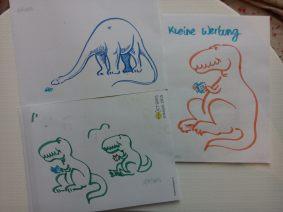 Kleine Werbung dinosaurs