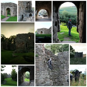 Hailes castle collage
