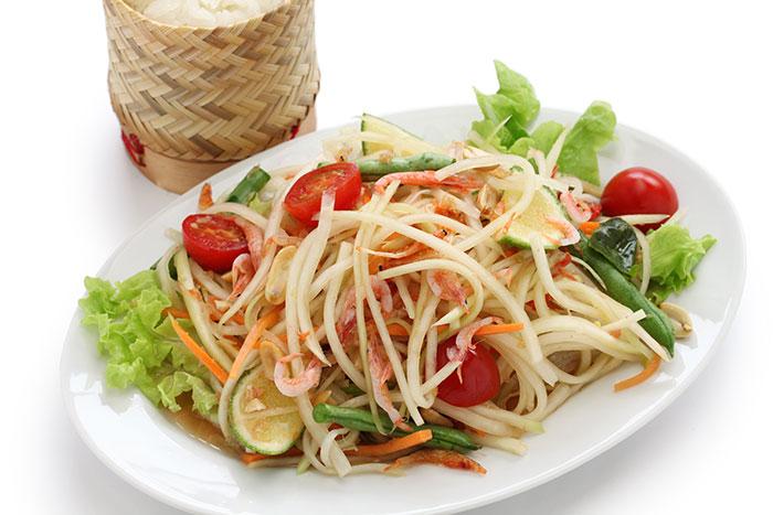 ソムタム・パパイヤのサラダの画像