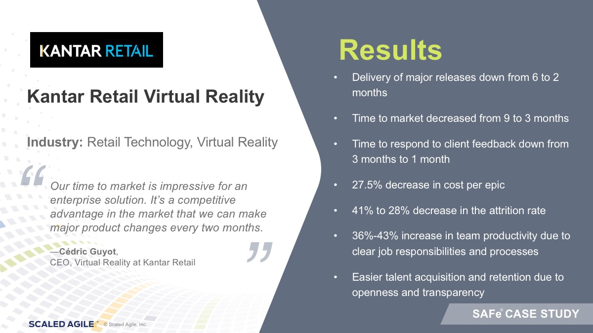 Kantar Retail develops Virtual Reality (VR) solutions that enable their retailer and manufacturer clients to research and design retail experiences to meet the needs of shoppers and keep up with the constantly changing retail landscape. Retail design and research in virtual reality drives time to market and more effective collaboration, and is faster, more economical and confidential than prototyping in physical stores. They work with retailers such as Walmart, Target and Marks & Spencer. They also work with global consumer goods businesses including Kimberly-Clark, Unilever & GSK.