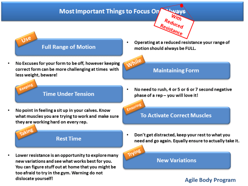 Important things to focus on
