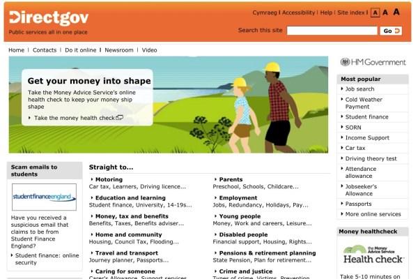 How gov.uk looked back in 2011