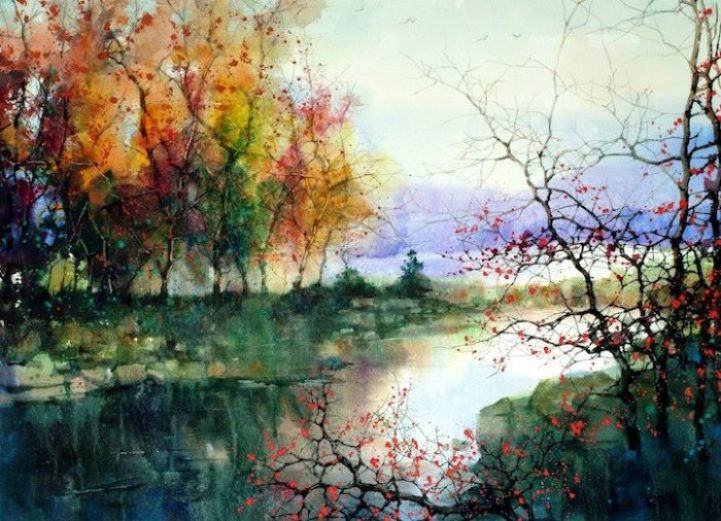 This painting is by my new favorite artist Z. L. Feng Click on picture for more.