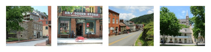 Buildings and streets of Harpers Ferry