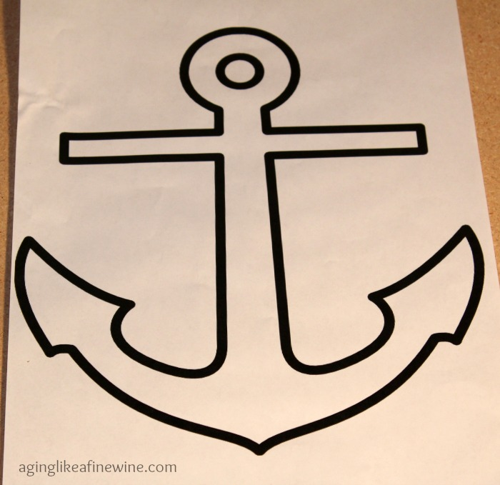graphic relating to Printable Anchor Template identify Anchors Aweigh\u201d Nautical Manufacturing! - Growing old Which includes a Great Wine