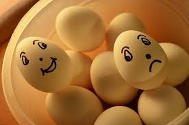 happy and sad eggs