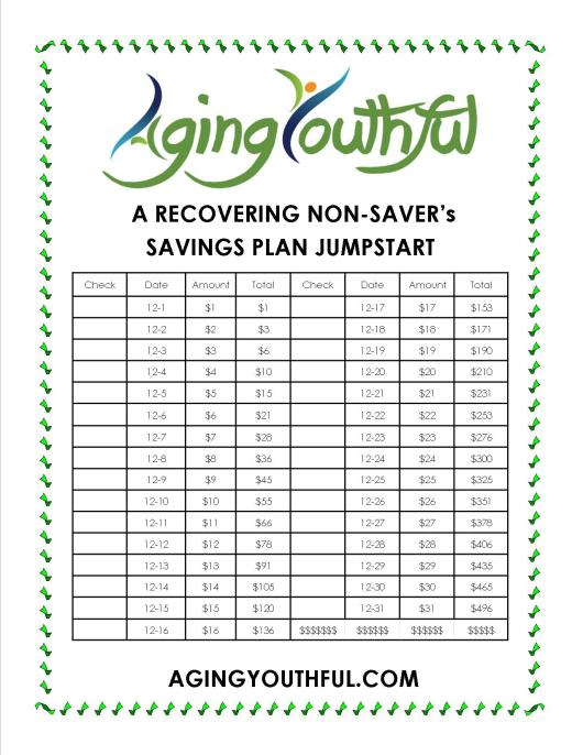 A dollar a day for each day adds up to $496 in savings by the end of the month!