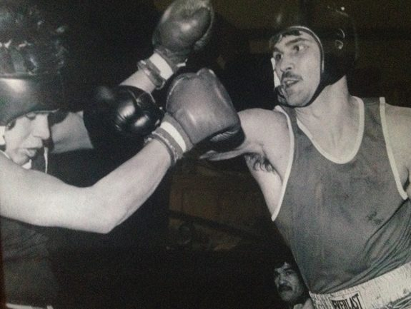 Boxing was my answer to being bullied when I was younger, to get my frustration out in a controlled way.