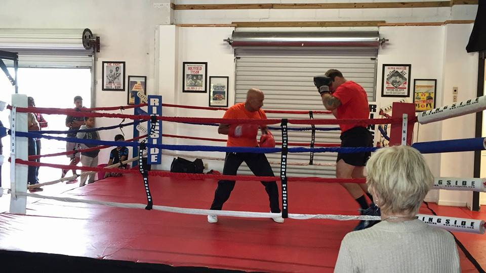 Luis Camacho still training boxers at 80!