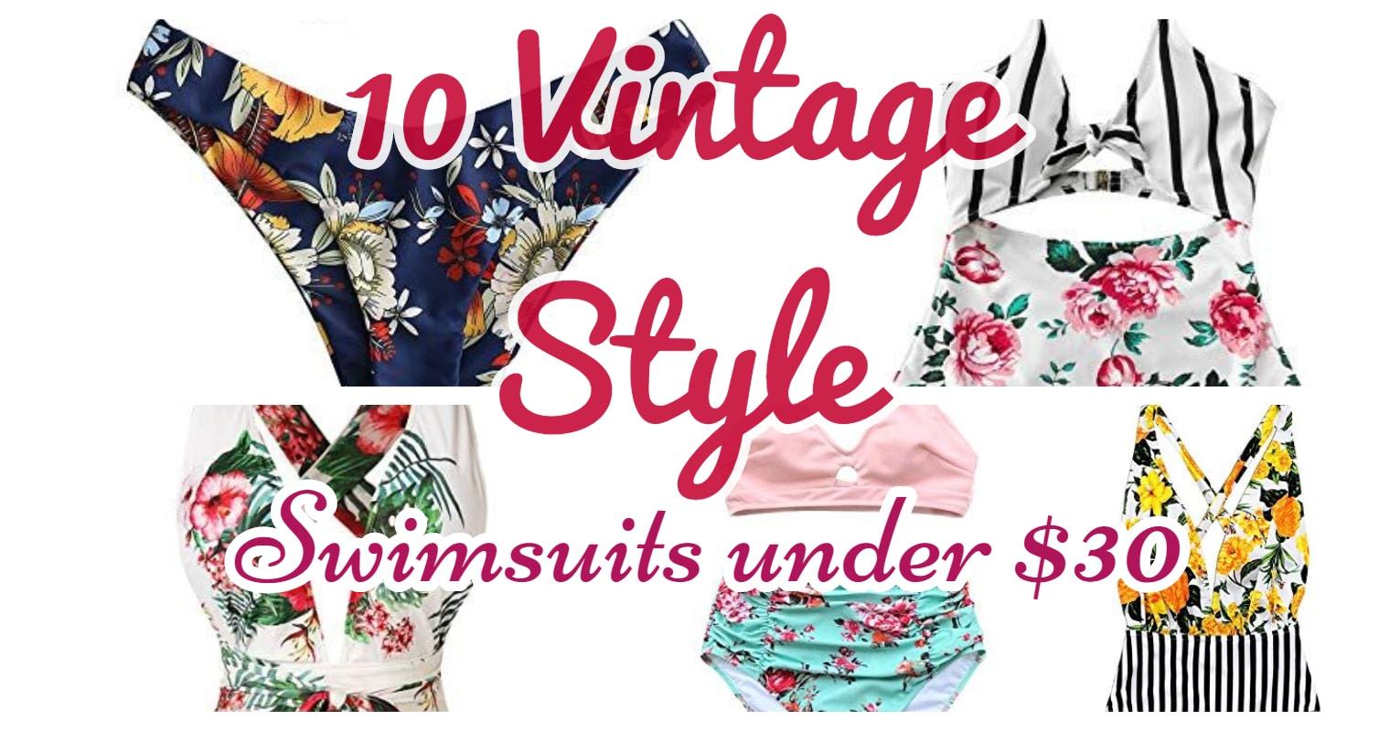 10 Vintage Swimsuits under $30