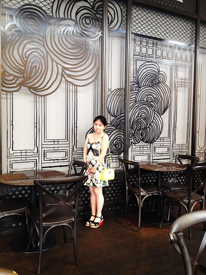 female travel blogger in feminine artistic dress