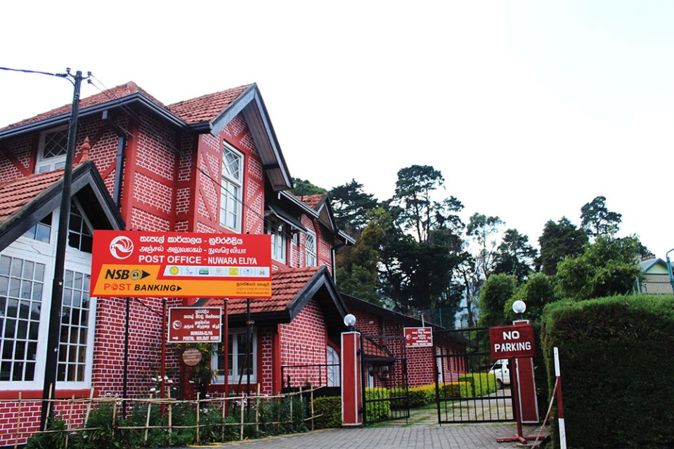 the town post office in english style nuwara eliya sri lanka
