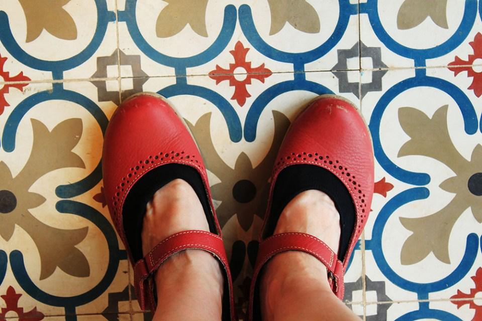 tiles pattern at Ba Na Hills Danang for soul therapy