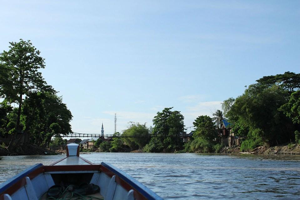 boat ride at tempe lake sulawesi indonesia