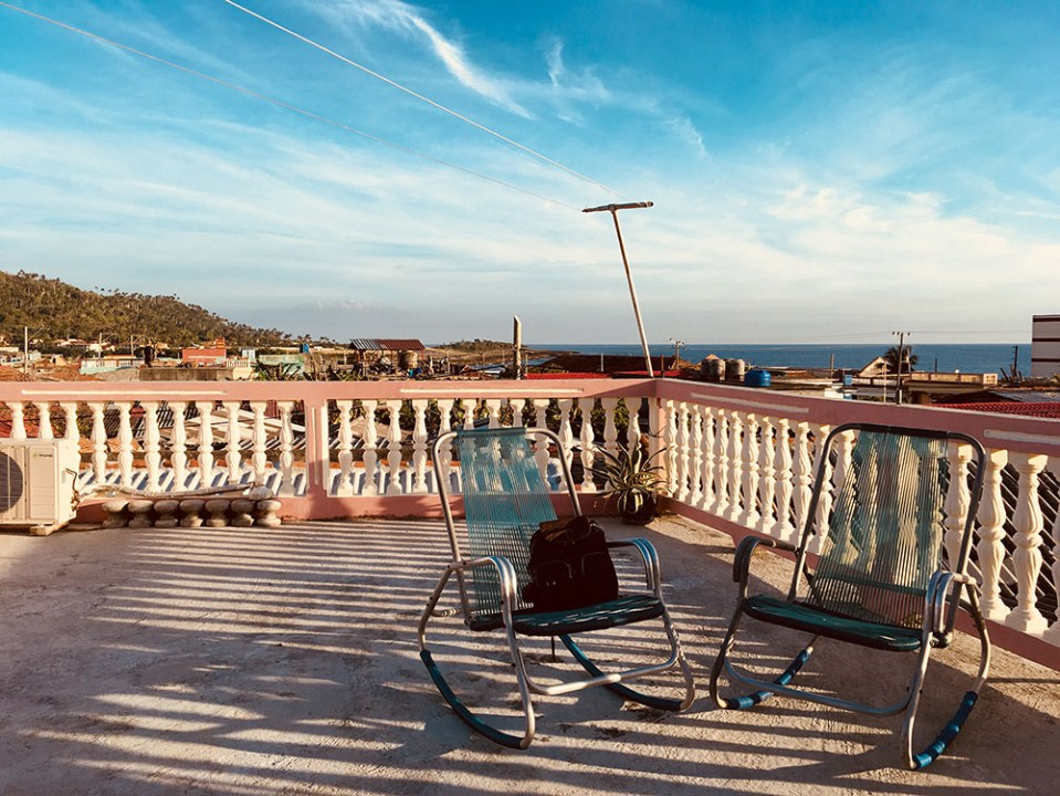 a typicial cuban rooftop place to relax