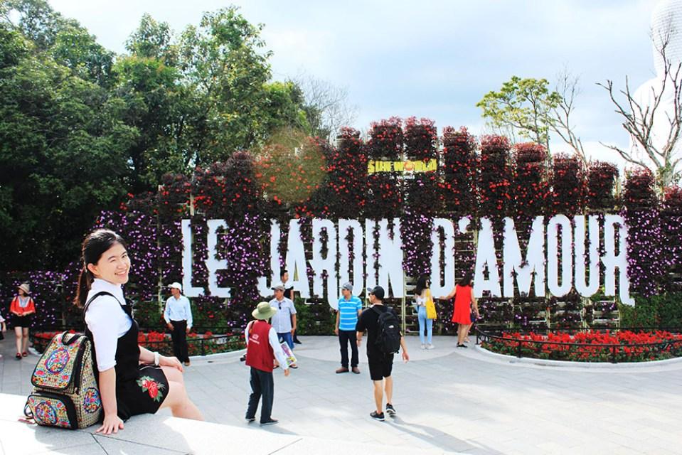 le jardin d'amour la vie en rose ba na hills vietnam