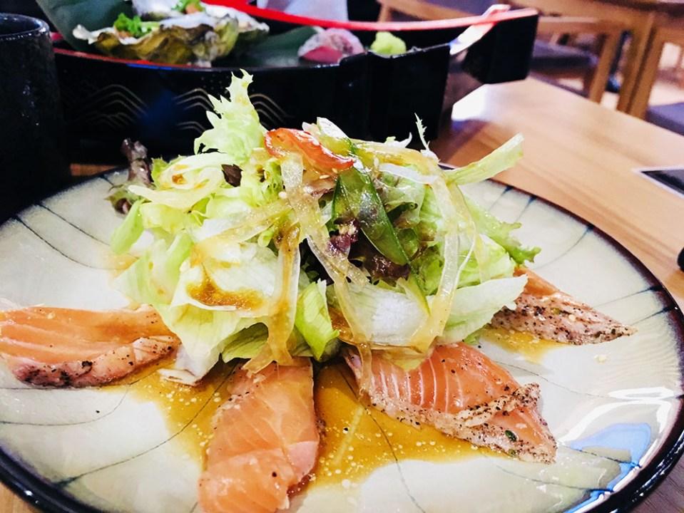 Ryoshi Izakaya Signature Salmon Carpaccio Salada