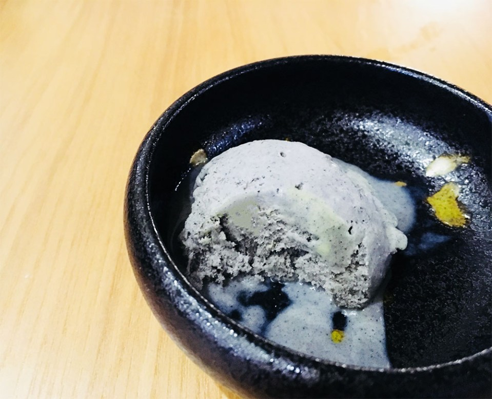 Ryoshi Izakaya Signature black sesame ice cream
