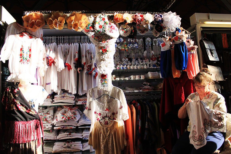 agirlnamedclara beautiful budapest woman craft seller central market