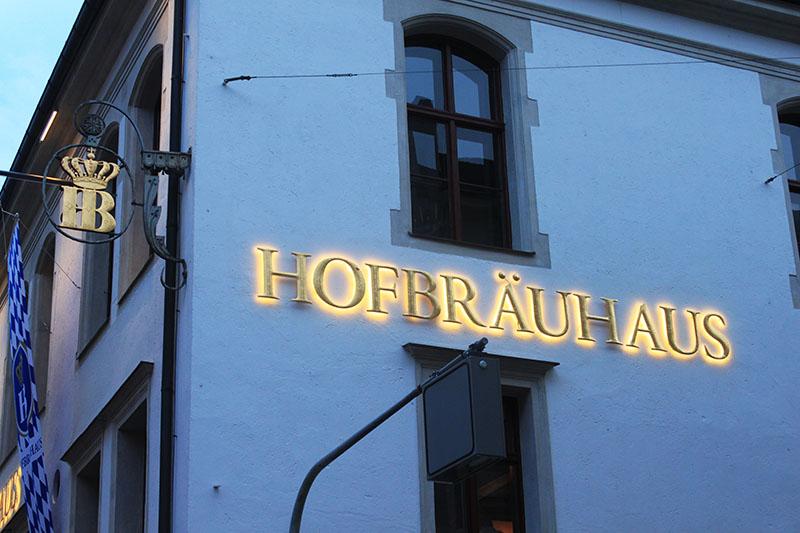 hofbrauhaus oktoberkfest munich germany exterior building signage