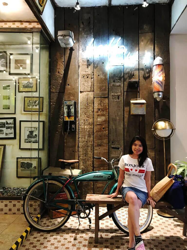 agirlnamedclara asian girl long hair vintage malaysia camera museum kl destination old bicycle