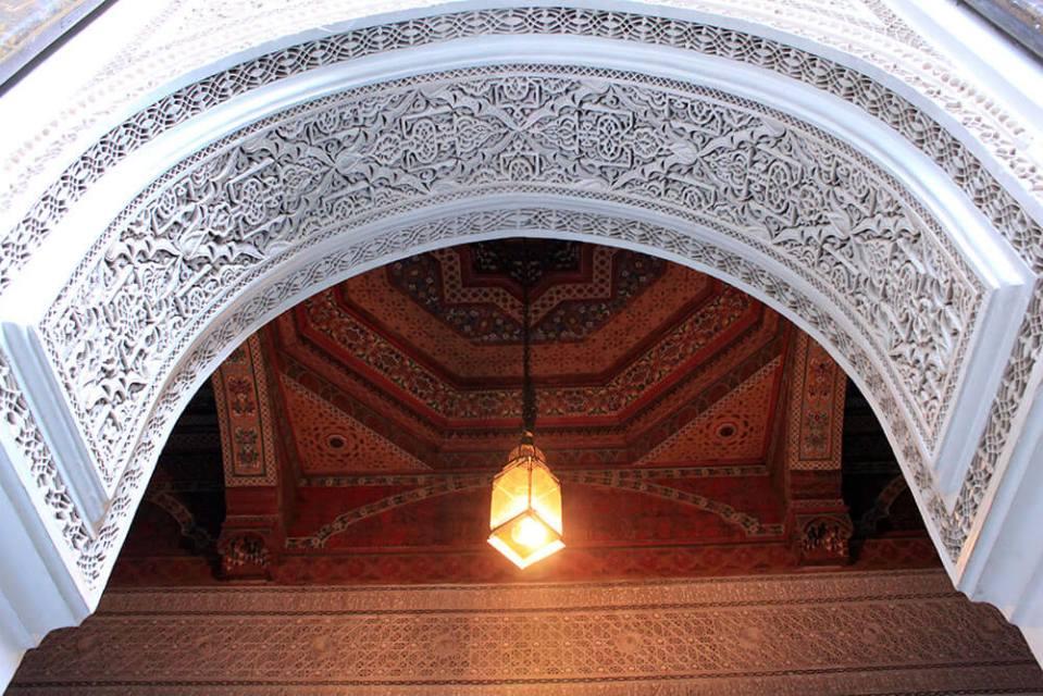 Bahia Palace Morocco white ceiling sculpture details design architecture agirlnamedclara