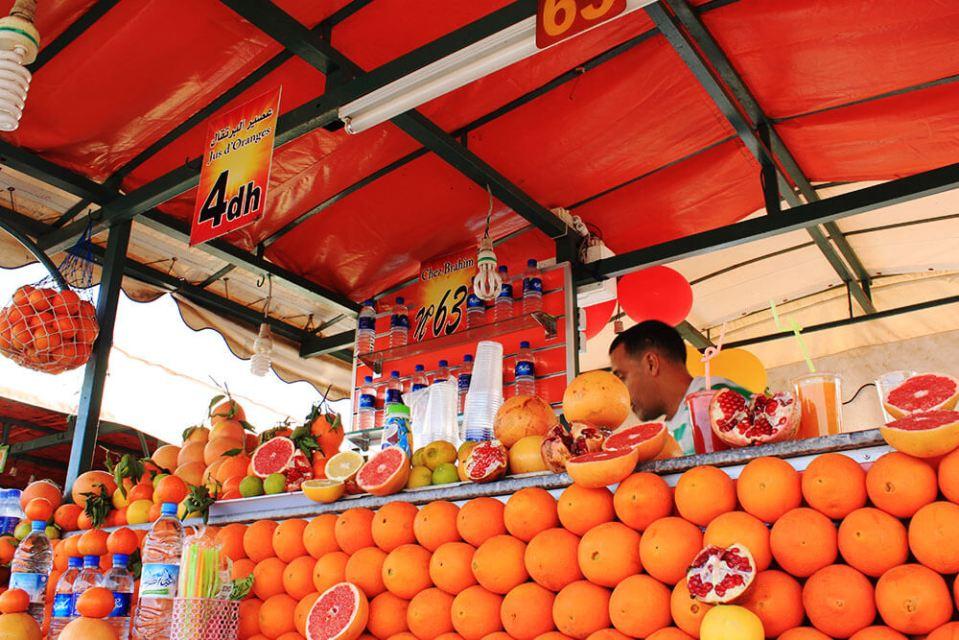 pomegranate grapefruit fresh juice marrakech souk morocco agirlnamedclara