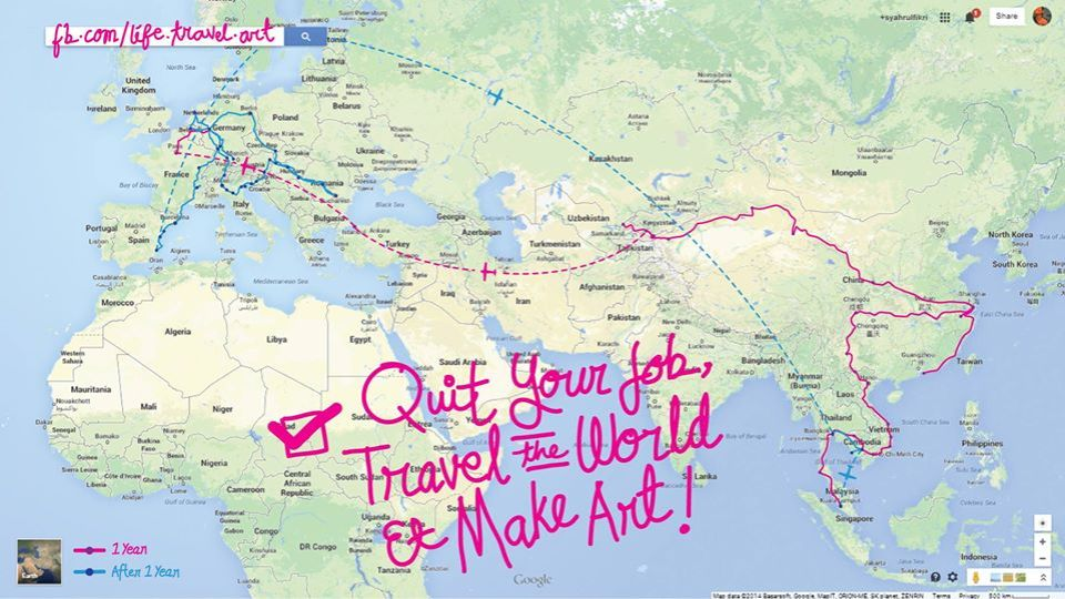 quit your job travel the world and make art globe wallpaper agirlnamedclara syahrulfikri salleh levis malaysia