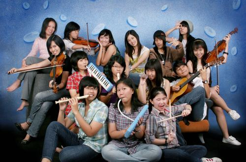 agirlnamedclara jogjakarta study girls play music photo shoot