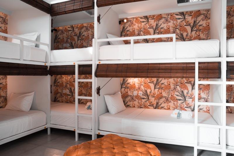 a guide to choosing a hostel seminyak bali  socialista lifestyle hostel flaubert room retro flamingo interior design agirlnamedclara