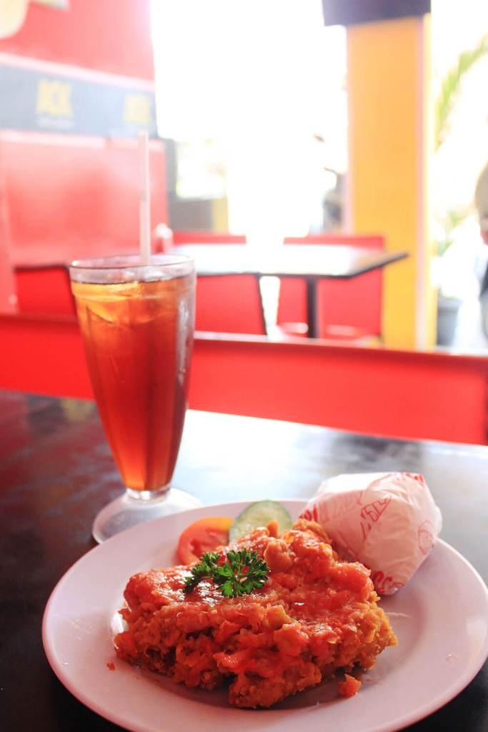 ayam geprek ACK fried chicken bali indonesia agirlnamedclara