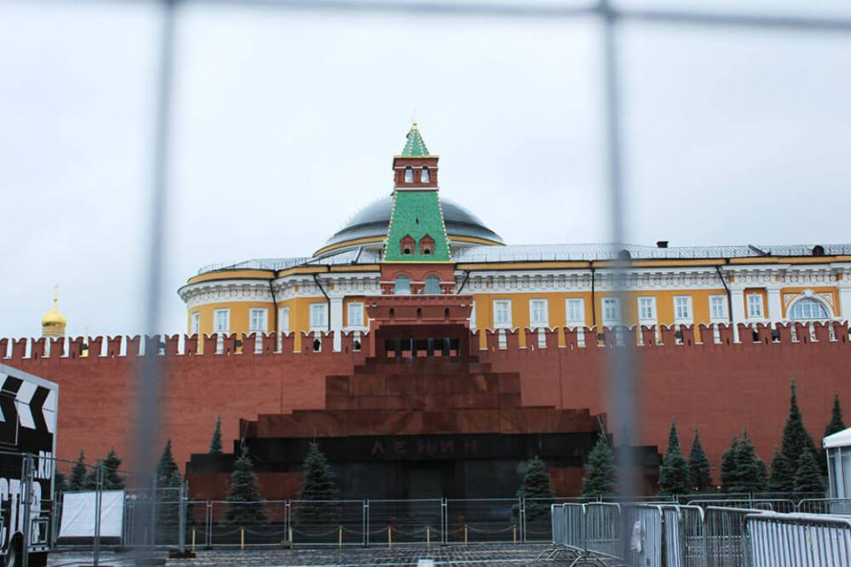 behind the steel fence, red square moscow agirlnamedclara
