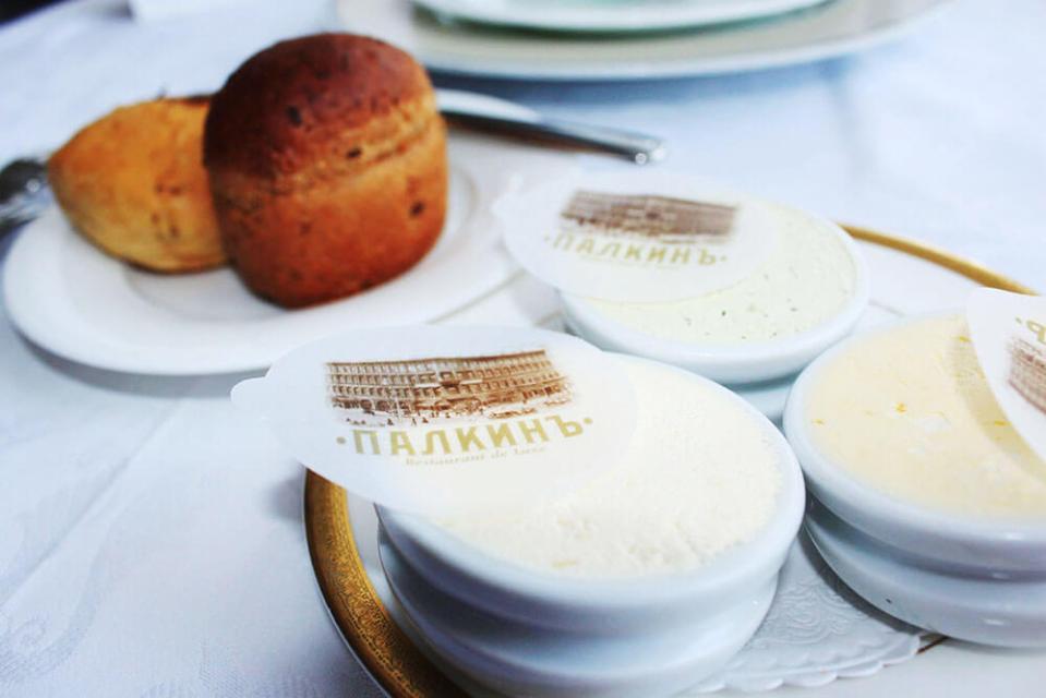 bread homemade butter selections Palkin Restaurant St Petersburg Russia agirlnamedclara