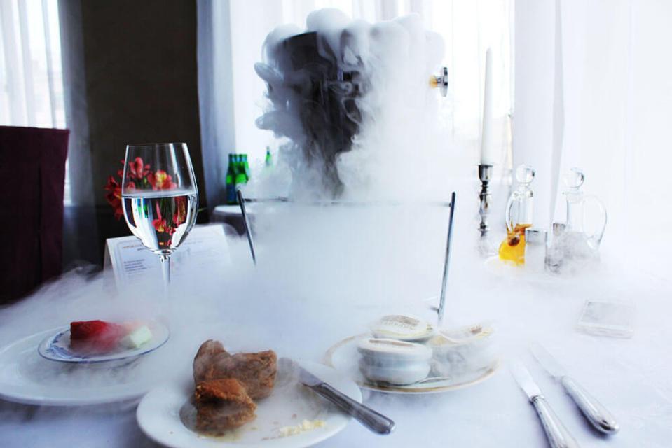 ice bucket smoky fine dining entree Palkin St Petersburg Russia agirlnamedclara