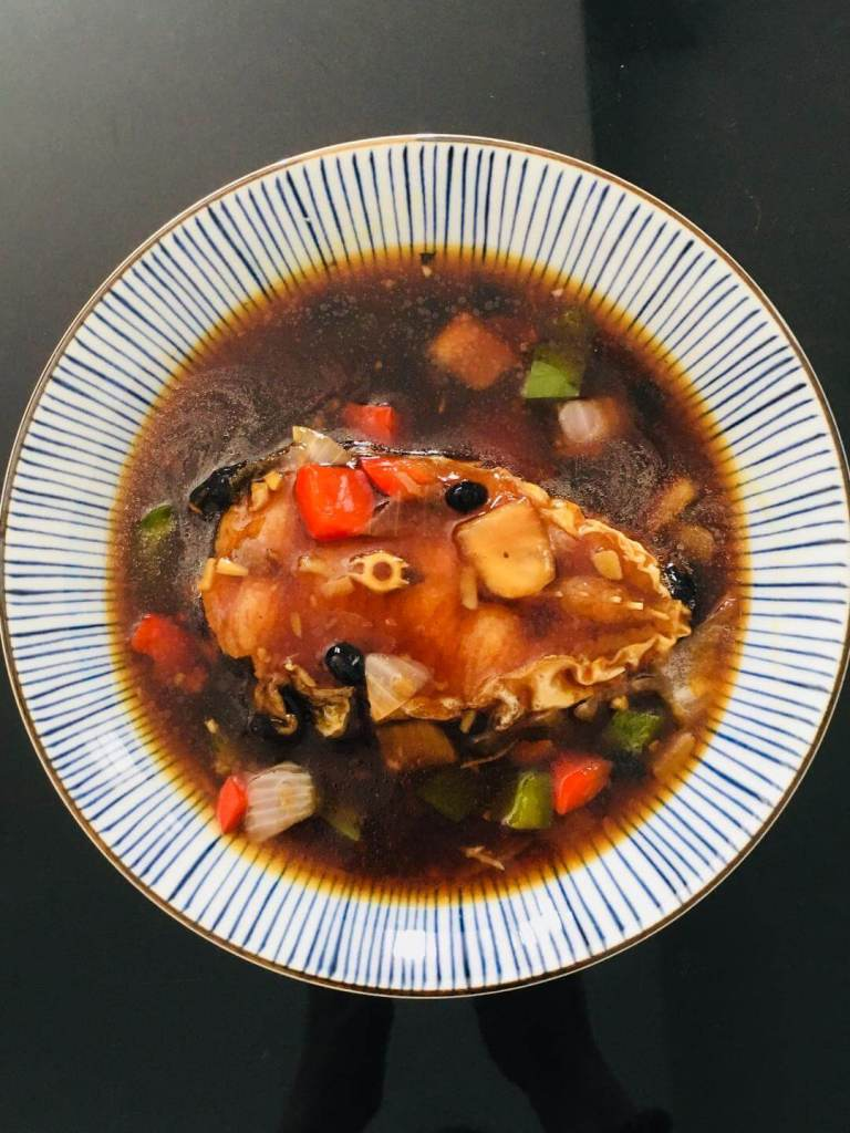 ikan patin goreng tahu tausi fried silver catfish in black bean sauce_agirlnamedclara