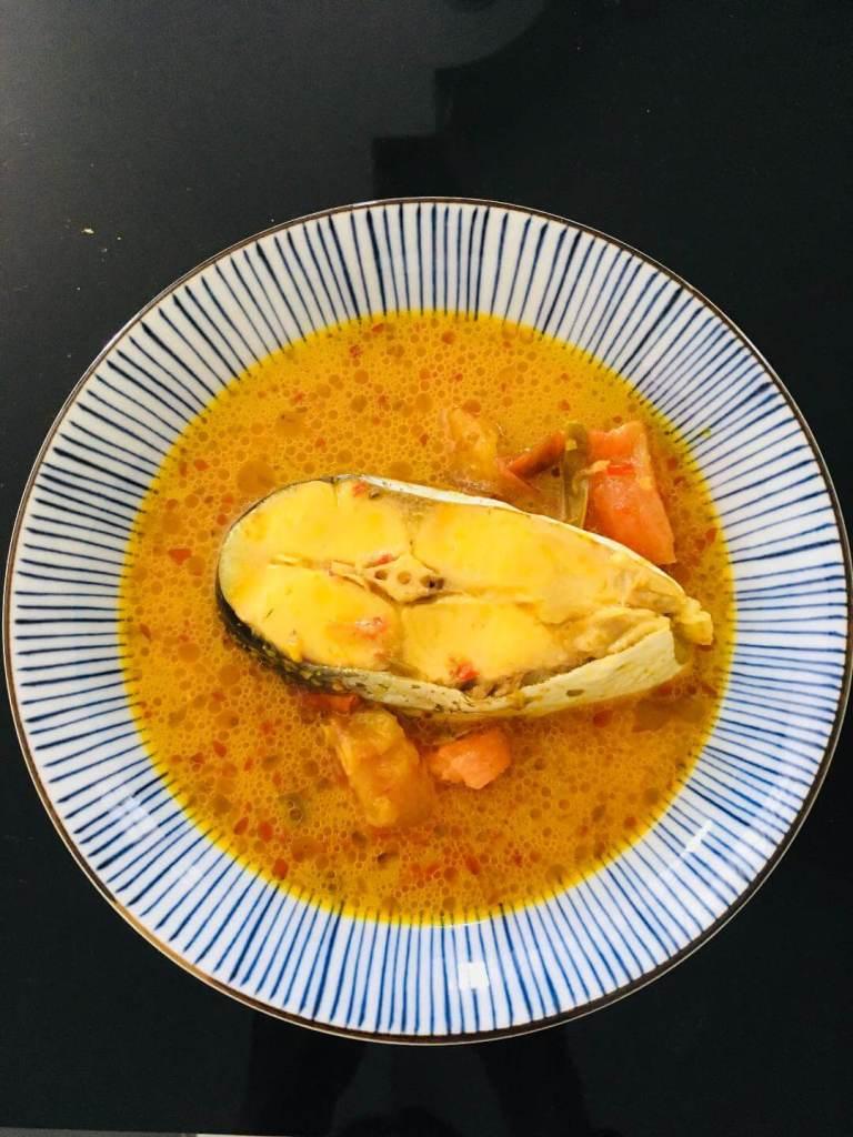 ikan patin masak kunyit steamed silver catfish in turmeric sauce_agirlnamedclara