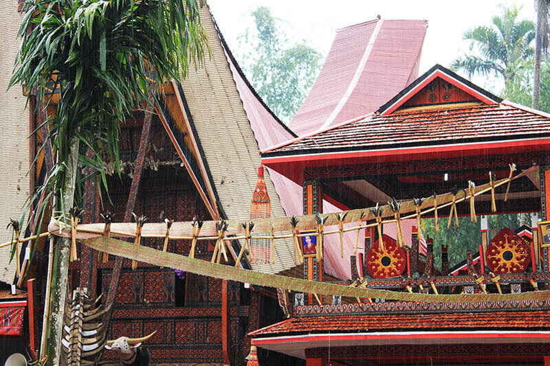 details of bamboo house decoration rambu solo toraja indonesia rain_agirlnamedclara