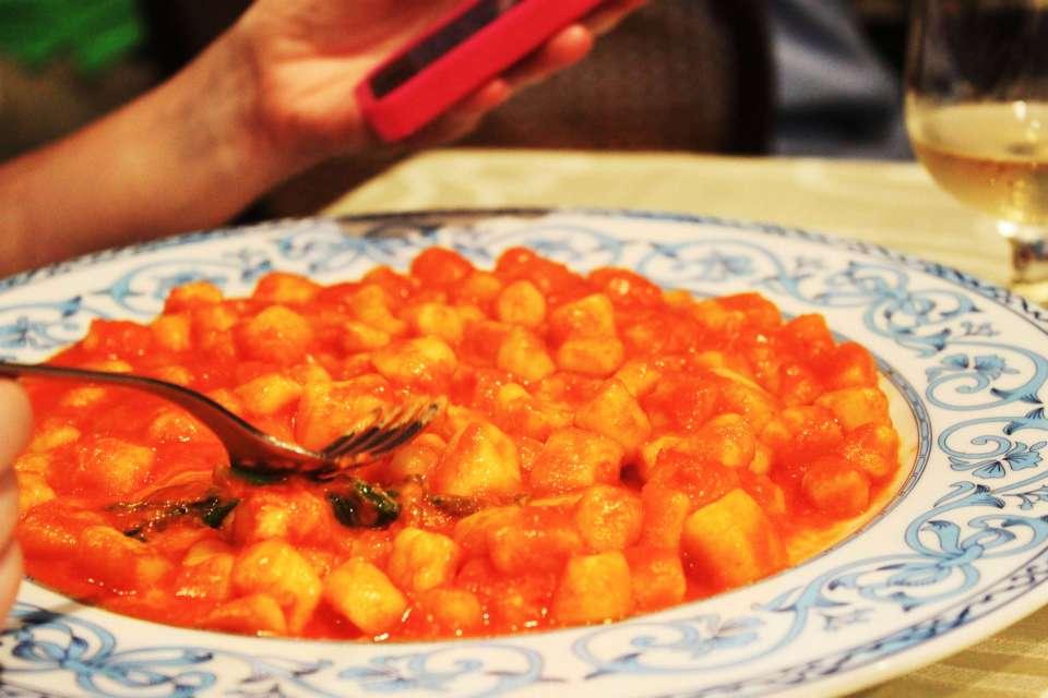 gnocchi tomato sauce tico tico restaurant sorrento italy agirlnamedclara