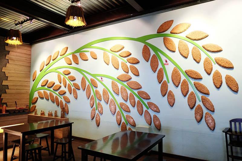 cafe paddy wall interior lps rice mill factory sekinchan cuti-cuti malaysia agirlnamedclara