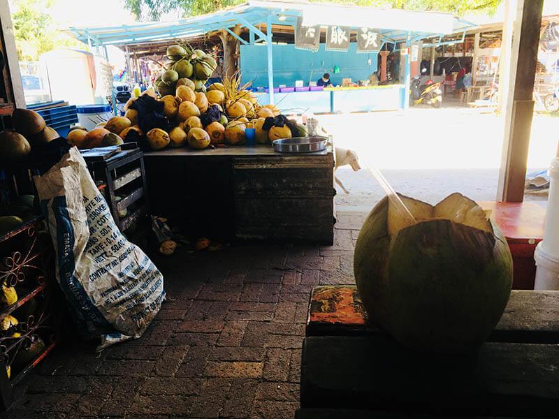 pandan coconut stall pantai redang beach sekinchan agirlnamedclara