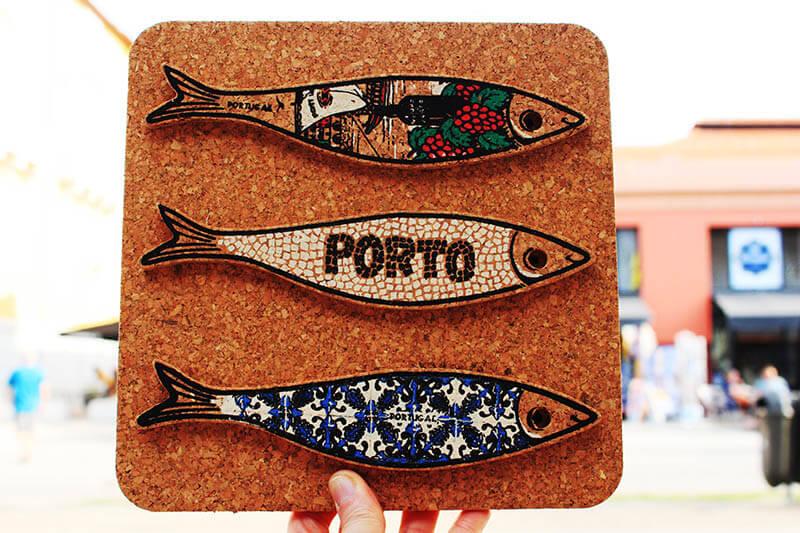 sardine fridge magnet cork porto portugal souvenir agirlnamedclara