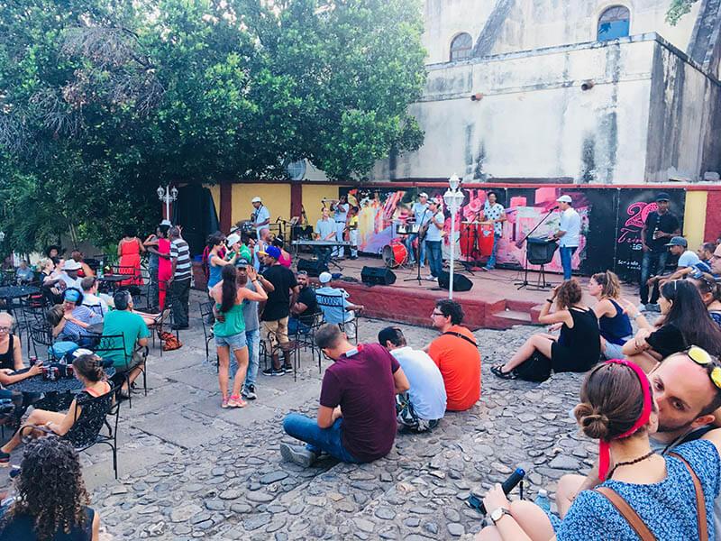 spanish steps trinidad cuba traveler enjoying live music agirlnamedclara