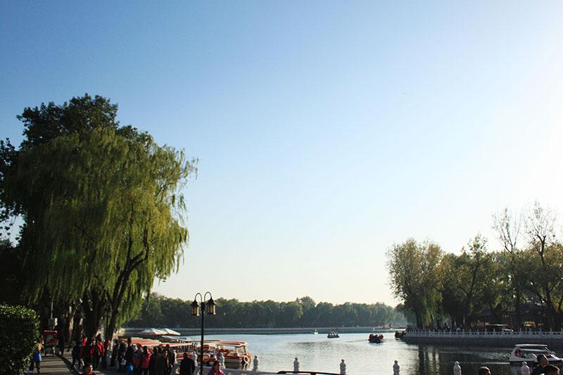 houhai lake willow sunset beijing agirlnamedclara