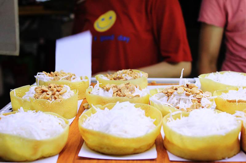 coconut peanut crepe snack hoi an night market agirlnamedclara