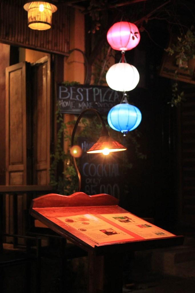 colorful lantern shine on menu hoi an night market agirlnamedclara