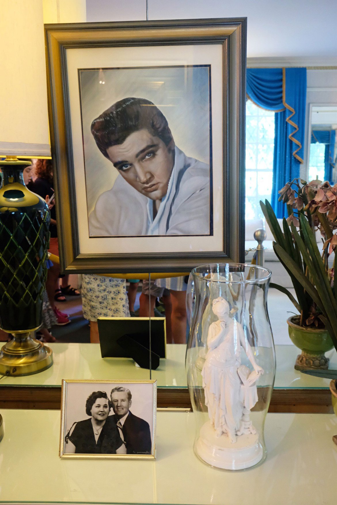 A portrait of Elvis Presley at Graceland